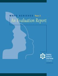 MNPS ACHIEVES Year 2: An Evaluation Report - Annenberg ...