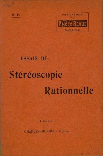 stéréoscopie rationnelle - E-Corpus