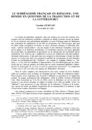 Le surréalisme français en espagnol: une remise en question ... - RUC