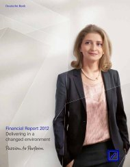 Financial Report page(s) - Deutsche Bank Annual Report 2012