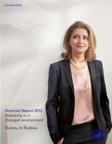 Financial Report page(s) - Deutsche Bank Annual Report 2012