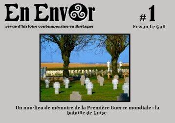 revue d'histoire contemporaine en Bretagne - En Envor