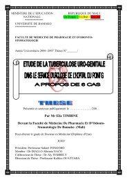Par Mr Elie TIMBINE Devant la Faculté de Médecine De Pharmacie ...