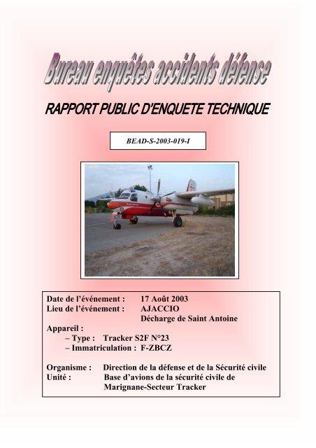 Télécharger le rapport public BEAD-air-S-2003-019-I