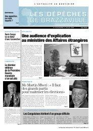 Les Dépêches de Brazzaville du Mardi 21 Juillet