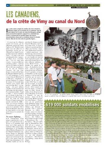 Les Canadiens, - Tourisme de mémoire   www.memoire.pas-de ...