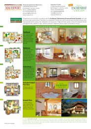Seasons 2011/12 Prices & Services - Hotel Eschenhof