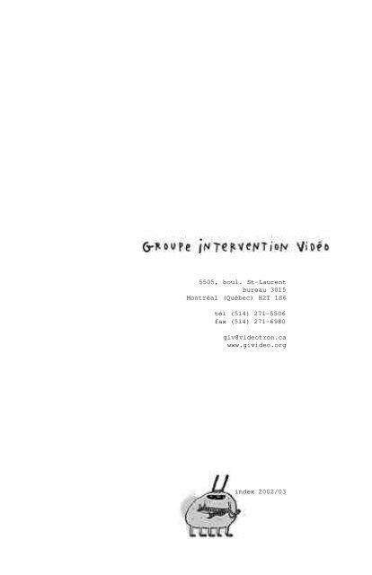 Québec - Groupe Intervention Vidéo