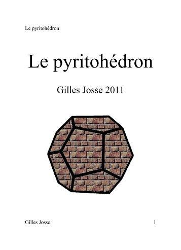 Le pyritohédron - Gilles Josse