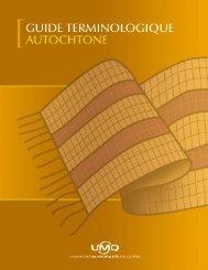 Guide terminologique autochtone - Union des municipalités du ...