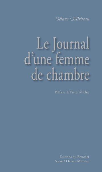 Le Journal d'une femme de chambre - Éditions du Boucher