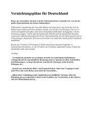 Vernichtungspläne für Deutschland - Wissen und freie Meinung
