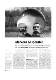 Marxens Gespenster - an.schläge