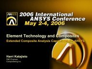 Extended Composite Analysis Capabilities for ANSYS
