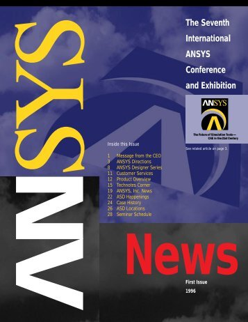 The Seventh International ANSYS Conference and ... - ANSYS Users