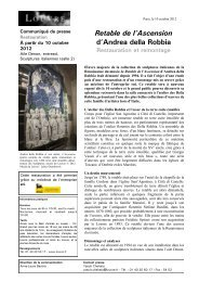 Télécharger le communiqué de presse > pdf - Musée du Louvre
