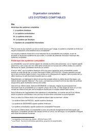 Organisation comptable - Procomptable.com
