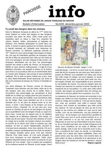 Journal décembre 2009 - Eglise réformée de langue française en ...