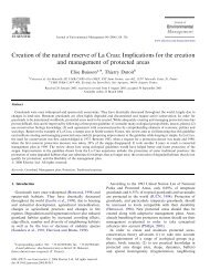 Creation of the natural reserve of La Crau: Implications for ... - IMEP