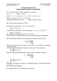 Corrigé de la série n°3 Mouvements circulaire et oscillatoire 1/ 0
