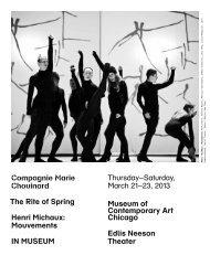 Program Notes - Museum of Contemporary Art, Chicago