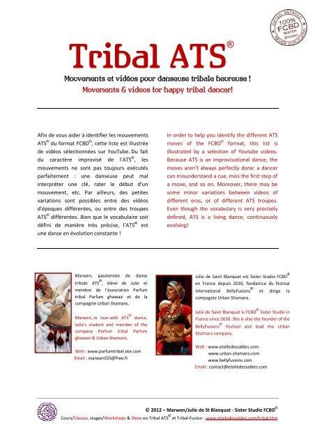 Mouvements Et Vidéos Pour Danseuse Tribale Etoile Des