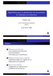 Algorithmes pour la planification de mouvements en ... - Ensta