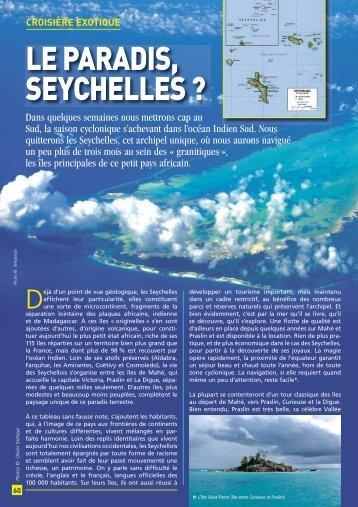 Les paradis aux Seychelles - Yachting Sud
