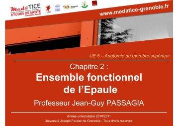 Ensemble fonctionnel de l'Epaule - Université Virtuelle Paris 5