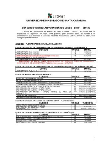 Edital - Portal do Vestibular Vocacionado UDESC