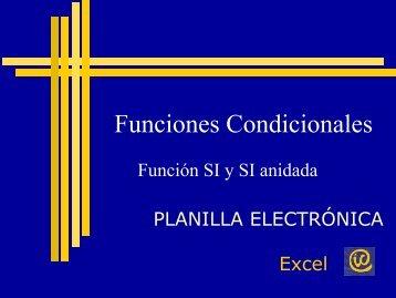 Excel funciones condicionales