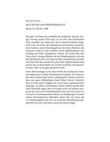 Blut ist ein ganz besonderer Saft - Rudolf Steiner Online Archiv