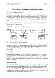 Einführung in die elektrische Antriebstechnik