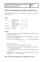 Geregelte Gleichstrommaschine (Aufgaben und Lösungen)