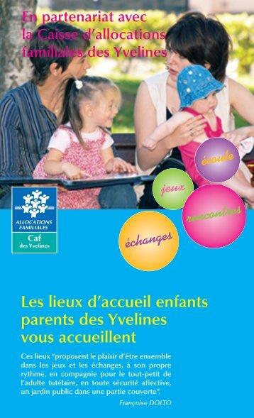 Les lieux d'accueil enfants parents des Yvelines - Caf.fr