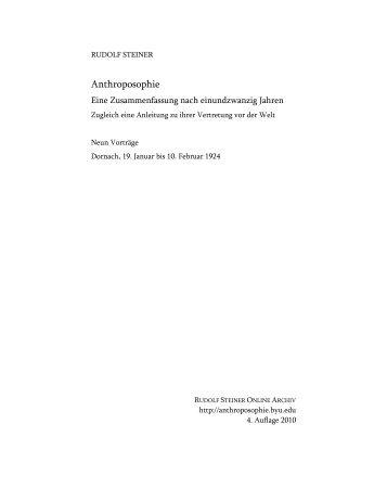 9 Vorträge, 1924 - Rudolf Steiner Online Archiv