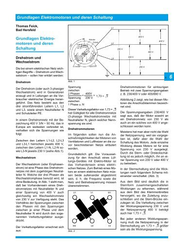 Grundlagen der Elektromotoren und deren Schaltung - TLT-Turbo