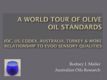 A World Tour of Olive Oil Standards IOC, US, Codex, Australia ...