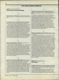 478 1992 ANNUAL MEETING ABSTRACTS Session A Monday ...