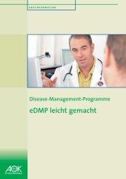 eDMP leicht gemacht - AOK-Gesundheitspartner