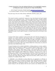 1 A Study of Logo Form, Tone and Attribute Preferences ... - ANZMAC