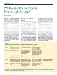 Will the new U. S. Food Guide P y ramid rock the boat? - staging.files ...