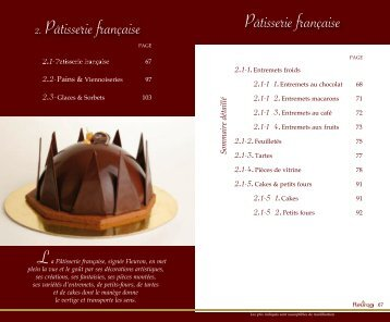 Pâtisserie française 2. Pâtisserie française L - Fleuron Gastronome