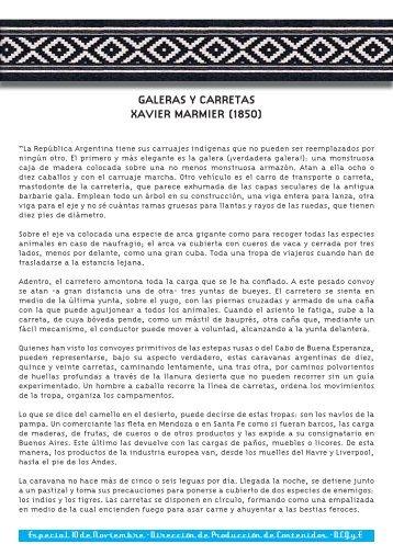 GALERAS Y CARRETAS XAVIER MARMIER (1850)