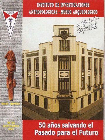 Boletín Especial - iniam - Universidad Mayor de San Simon