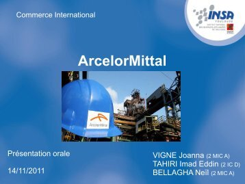 ArcelorMittal - don et sa perception