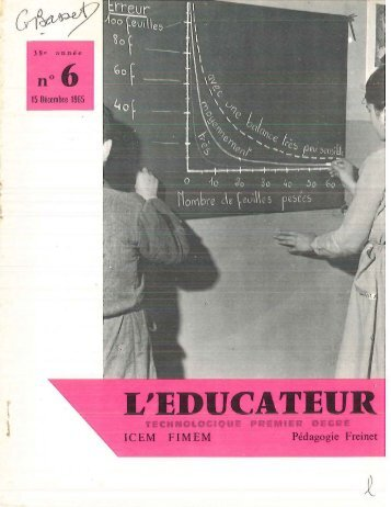L'EDUCATEUR - Icem