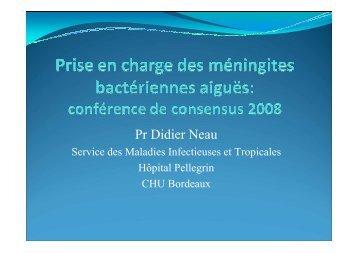 conférence de consensus SPILF 2008, les ... - CLIN Sud-Ouest