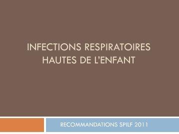 Infections respiratoires hautes de l´enfant .Cas cliniques