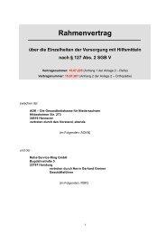 Rahmenvertrag über die Einzelheiten der Versorgung mit Hilfsmitteln